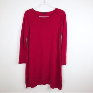 Eileen Fisher Red Merino Wool Tunic Shift Dress XS